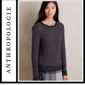 ANTHRO moth wool blend cozy grey knit sweater